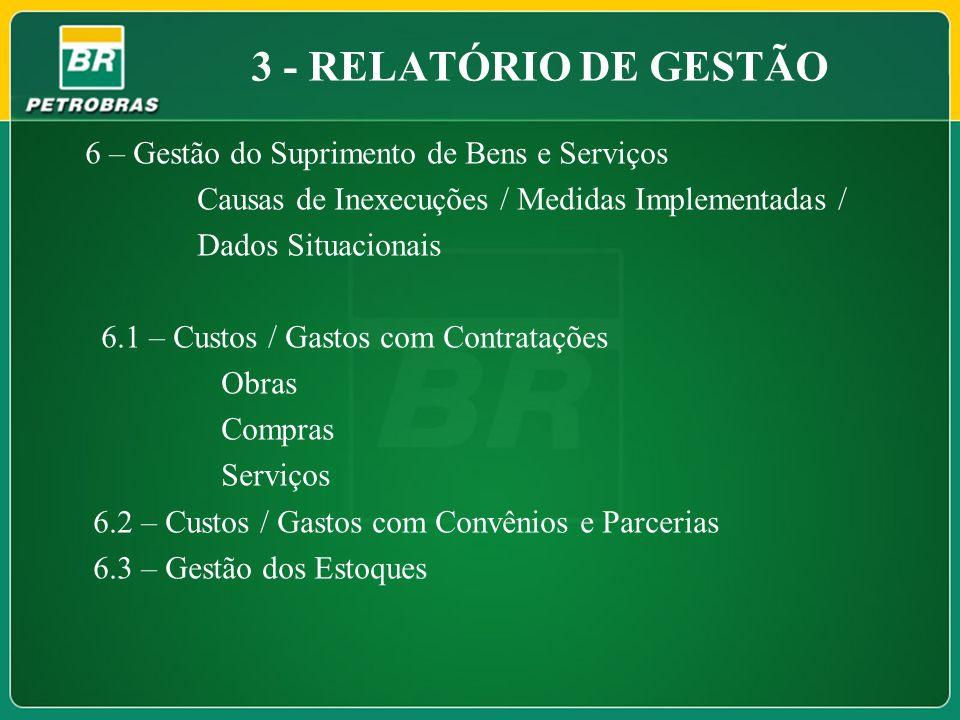 3 - RELATÓRIO DE GESTÃO 6 – Gestão do Suprimento de Bens e Serviços
