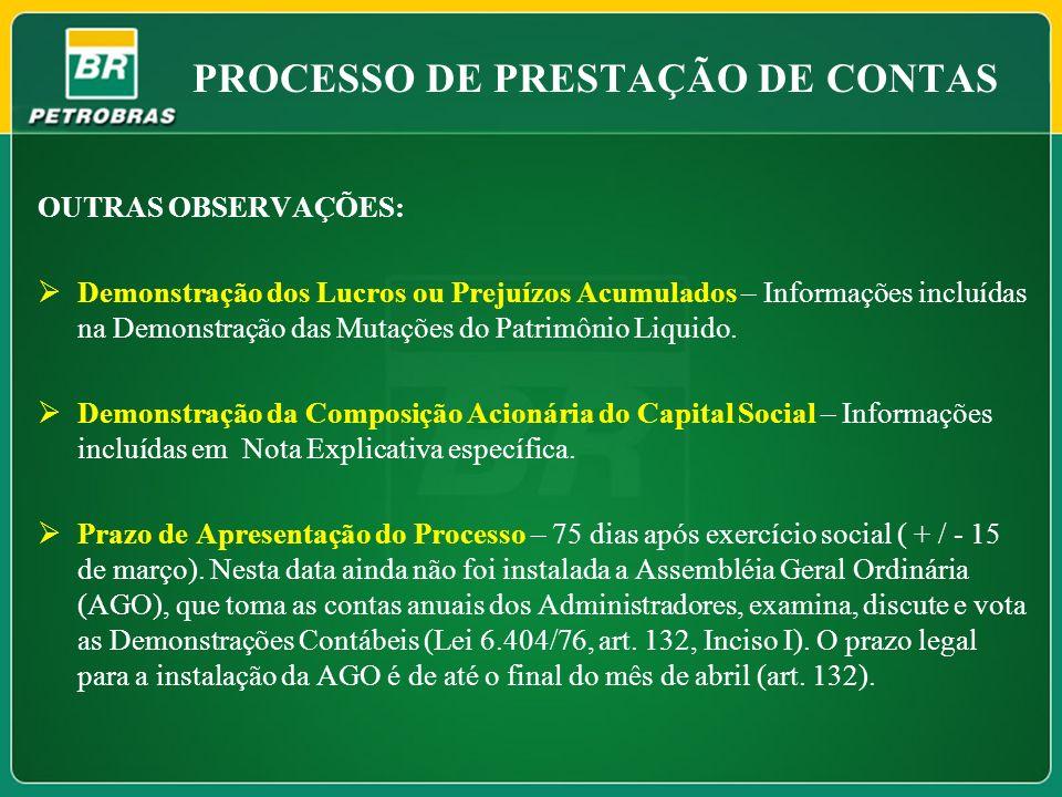 PROCESSO DE PRESTAÇÃO DE CONTAS