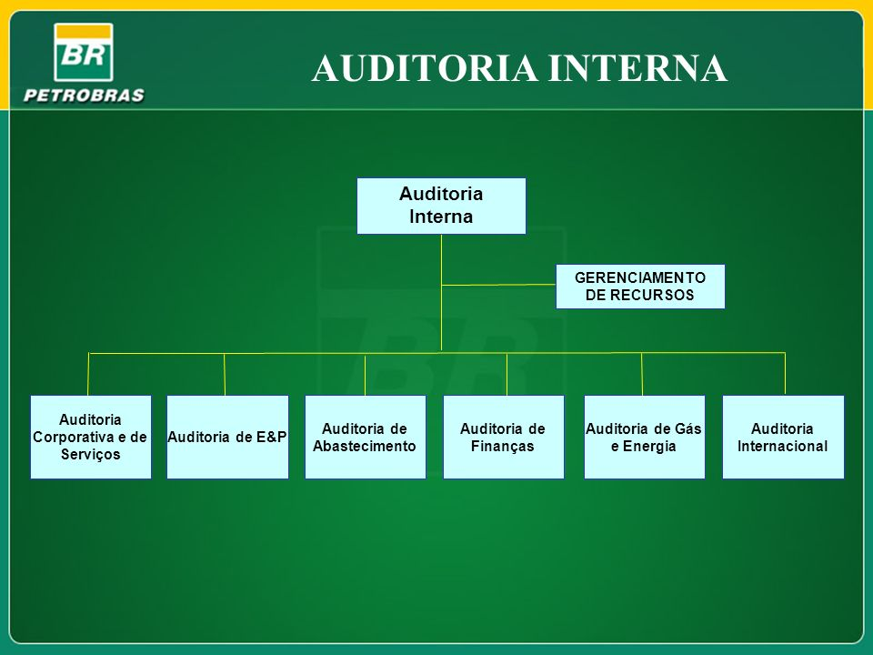 AUDITORIA INTERNA Auditoria Interna GERENCIAMENTO DE RECURSOS