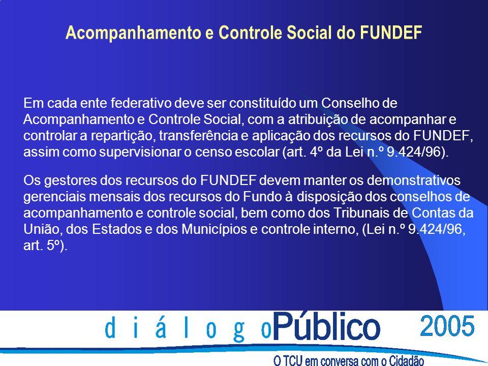 Acompanhamento e Controle Social do FUNDEF