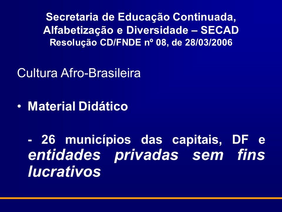 Cultura Afro-Brasileira Material Didático