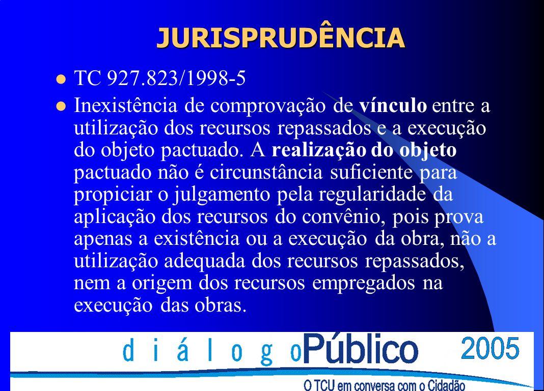 JURISPRUDÊNCIATC 927.823/1998-5.