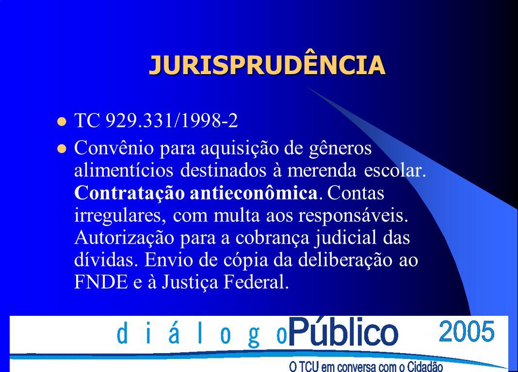 JURISPRUDÊNCIA TC 929.331/1998-2.