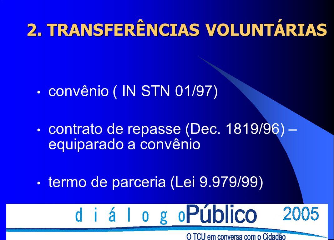 2. TRANSFERÊNCIAS VOLUNTÁRIAS