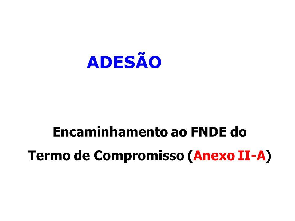 Encaminhamento ao FNDE do Termo de Compromisso (Anexo II-A)