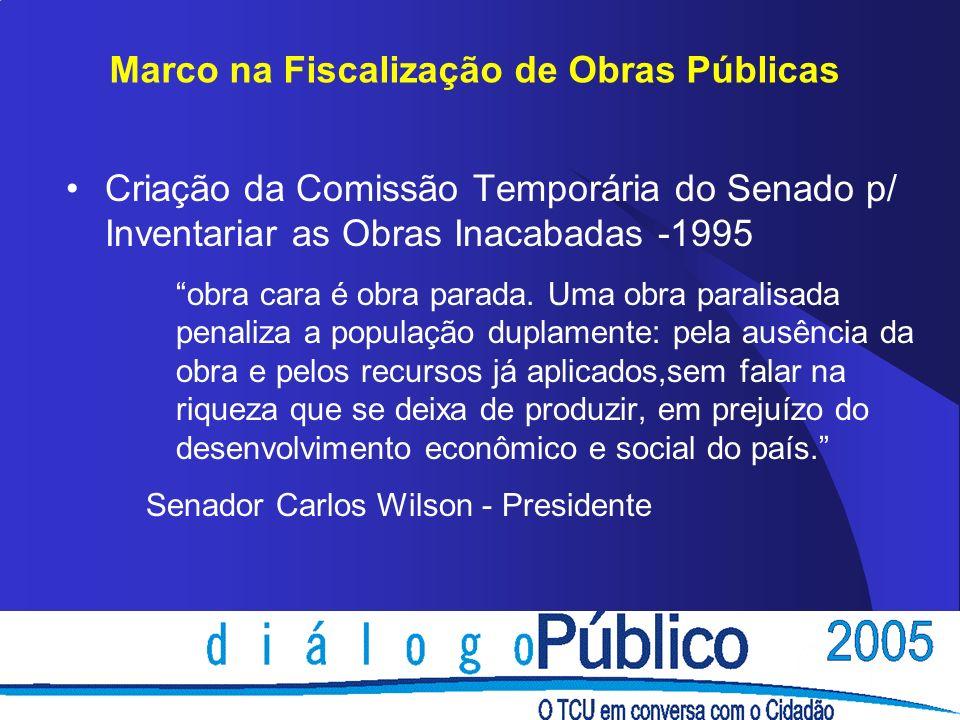 Marco na Fiscalização de Obras Públicas