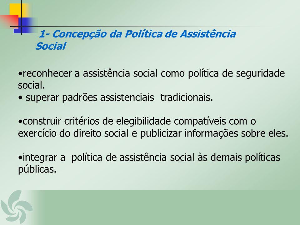 1- Concepção da Política de Assistência Social