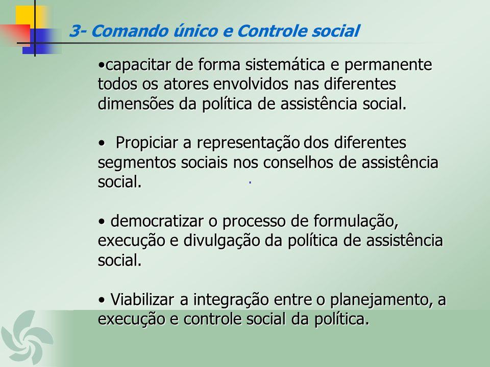 . 3- Comando único e Controle social