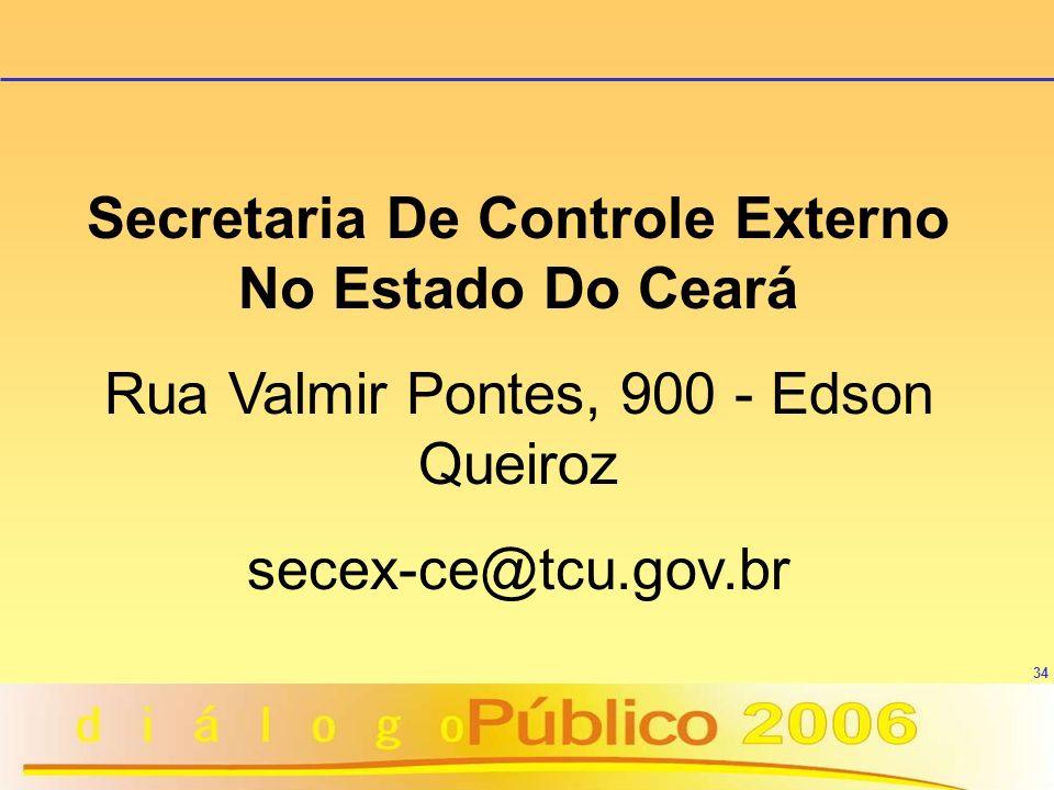 Secretaria De Controle Externo No Estado Do Ceará