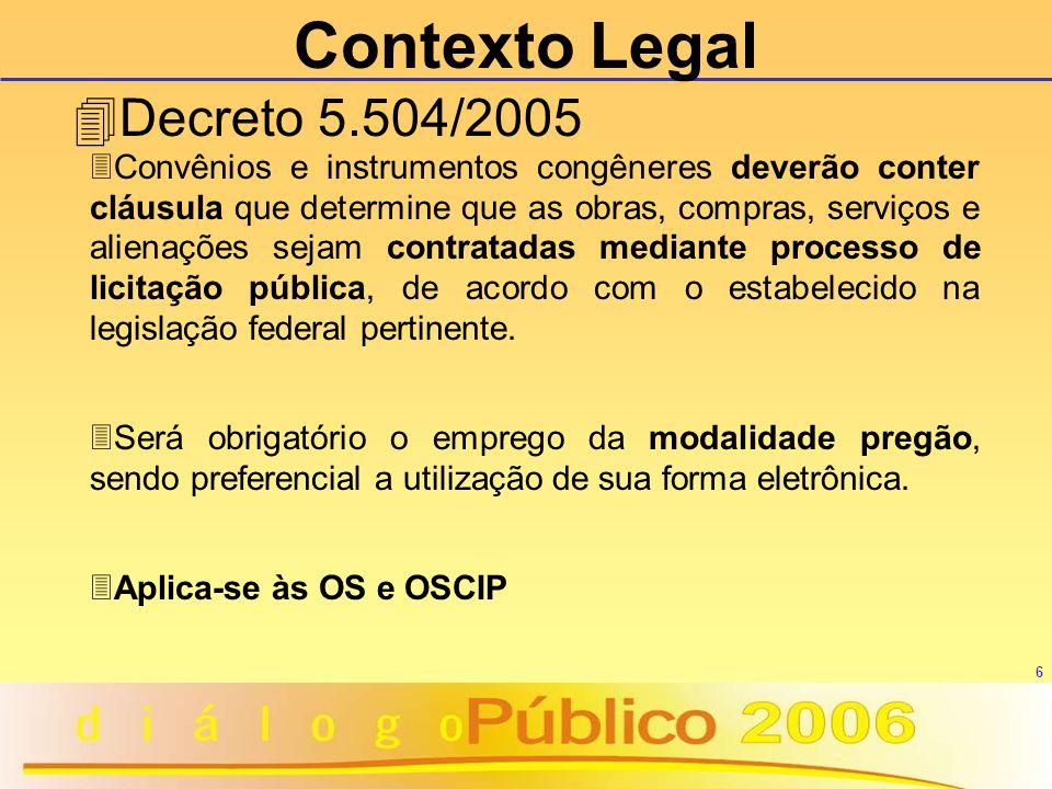 Contexto Legal Decreto 5.504/2005