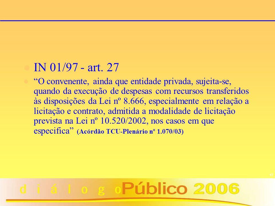 IN 01/97 - art. 27