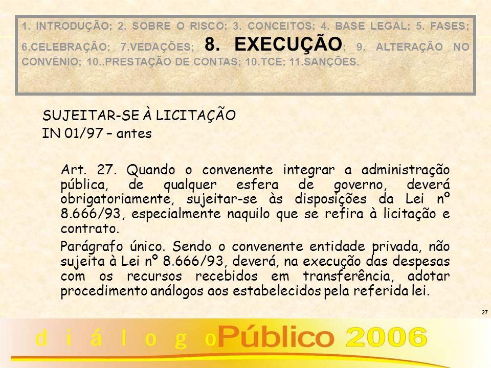 SUJEITAR-SE À LICITAÇÃO IN 01/97 – antes