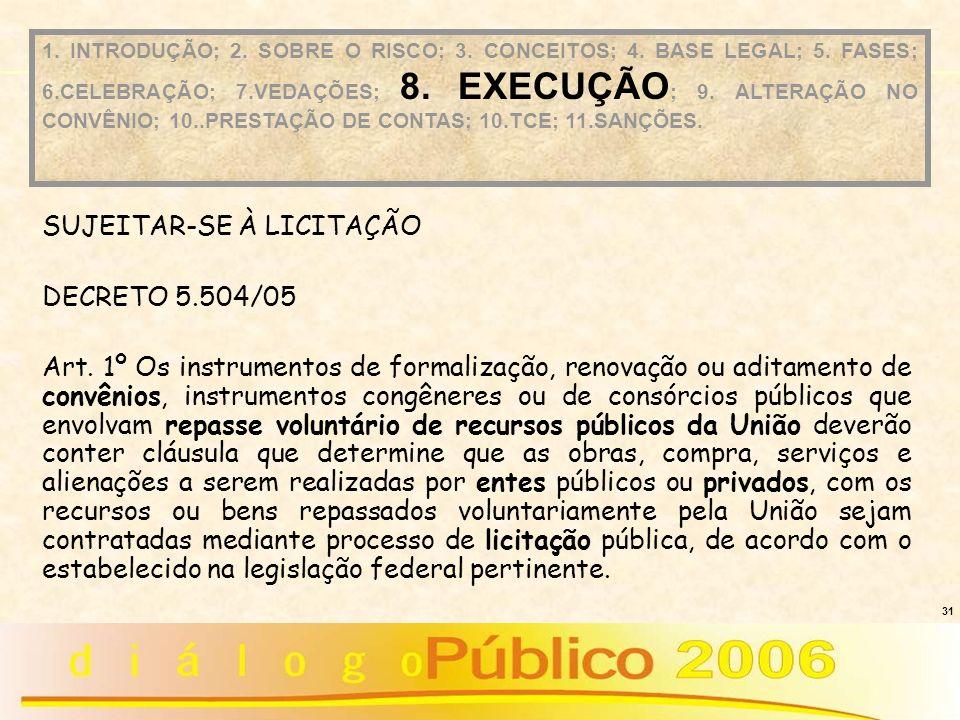 SUJEITAR-SE À LICITAÇÃO DECRETO 5.504/05
