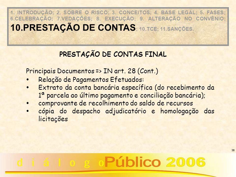 PRESTAÇÃO DE CONTAS FINAL