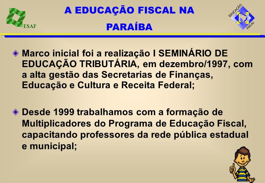 A EDUCAÇÃO FISCAL NA PARAÍBA