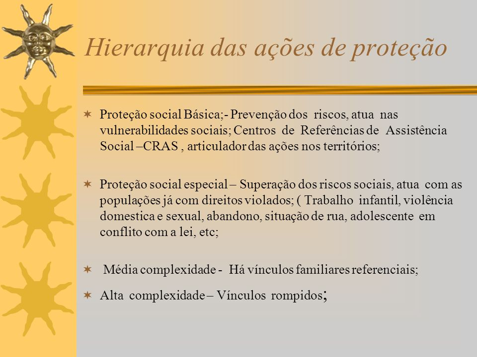 Hierarquia das ações de proteção