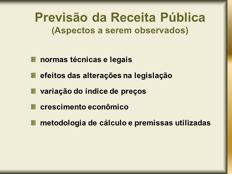 Previsão da Receita Pública (Aspectos a serem observados)
