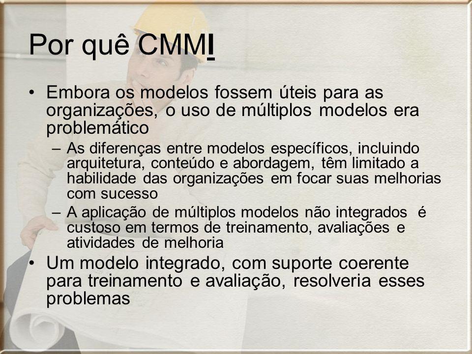 Por quê CMMI Embora os modelos fossem úteis para as organizações, o uso de múltiplos modelos era problemático.