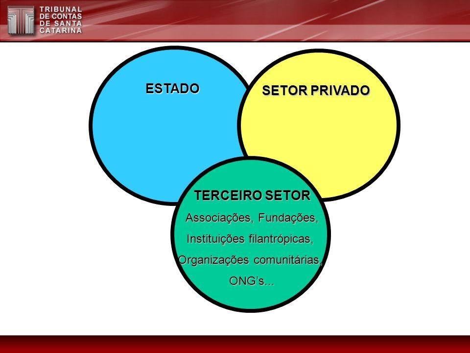 ESTADO SETOR PRIVADO TERCEIRO SETOR