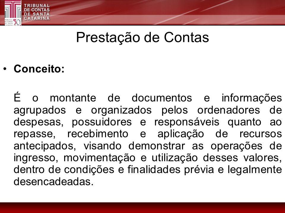 Prestação de Contas Conceito: