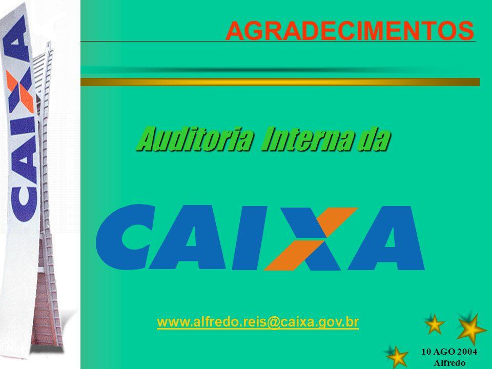 Auditoria Interna da AGRADECIMENTOS www.alfredo.reis@caixa.gov.br