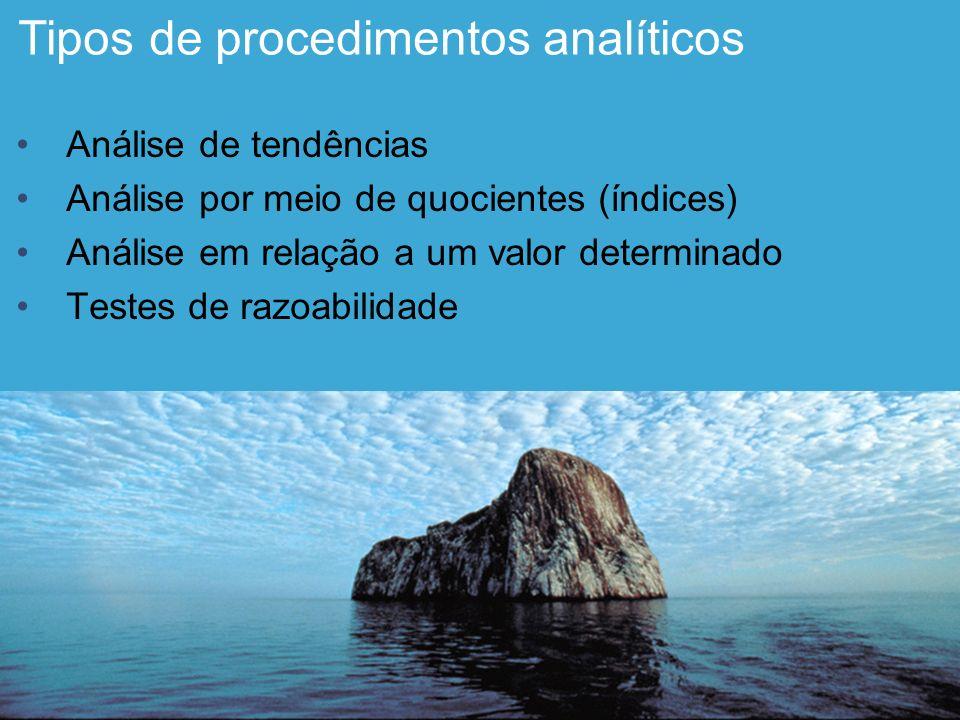 Tipos de procedimentos analíticos