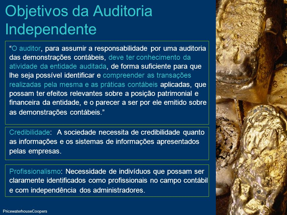 Objetivos da Auditoria Independente