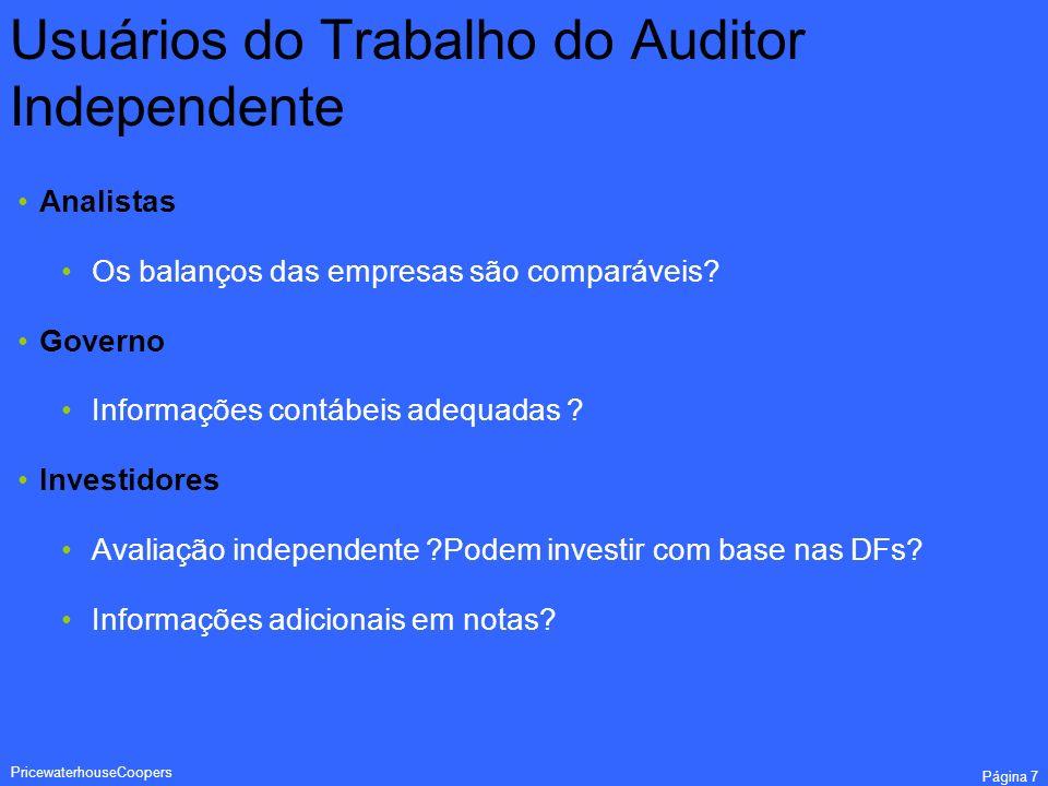 Usuários do Trabalho do Auditor Independente