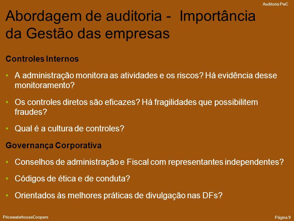 Abordagem de auditoria - Importância da Gestão das empresas