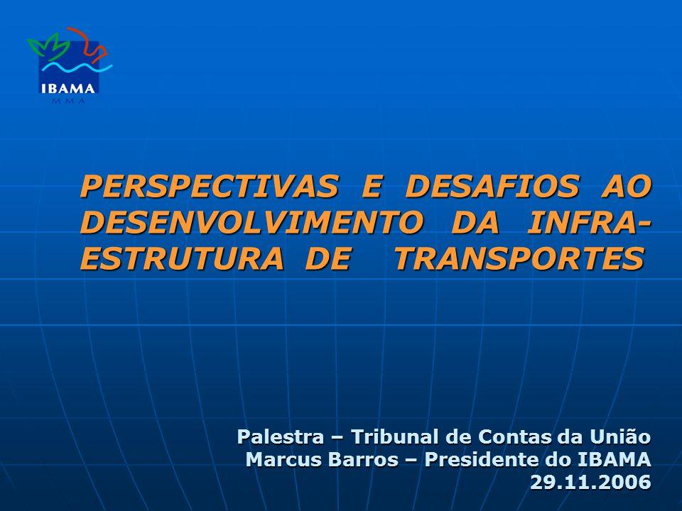 PERSPECTIVAS E DESAFIOS AO DESENVOLVIMENTO DA INFRA-ESTRUTURA DE TRANSPORTES