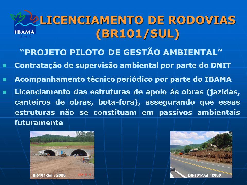 LICENCIAMENTO DE RODOVIAS (BR101/SUL)