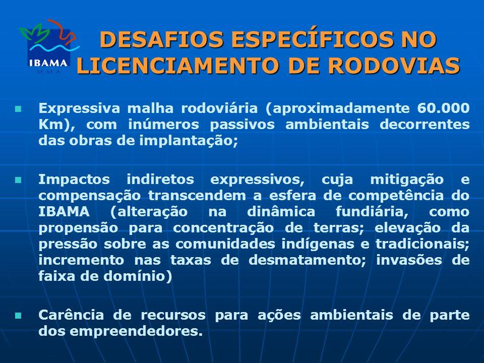DESAFIOS ESPECÍFICOS NO LICENCIAMENTO DE RODOVIAS