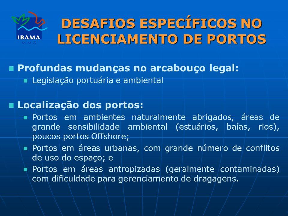 DESAFIOS ESPECÍFICOS NO LICENCIAMENTO DE PORTOS