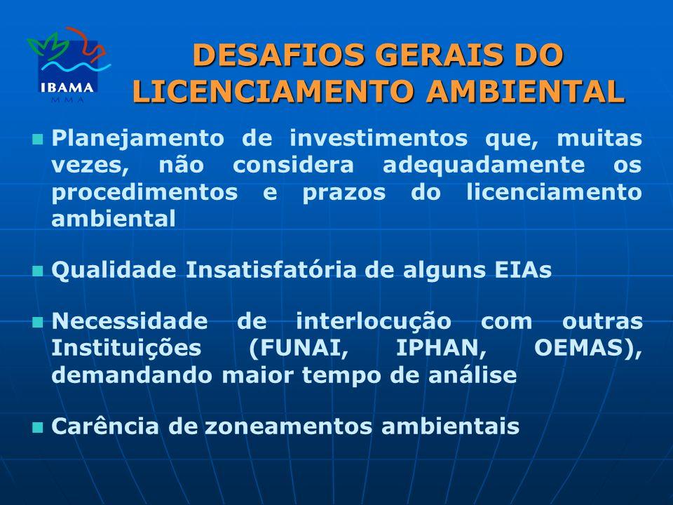 DESAFIOS GERAIS DO LICENCIAMENTO AMBIENTAL