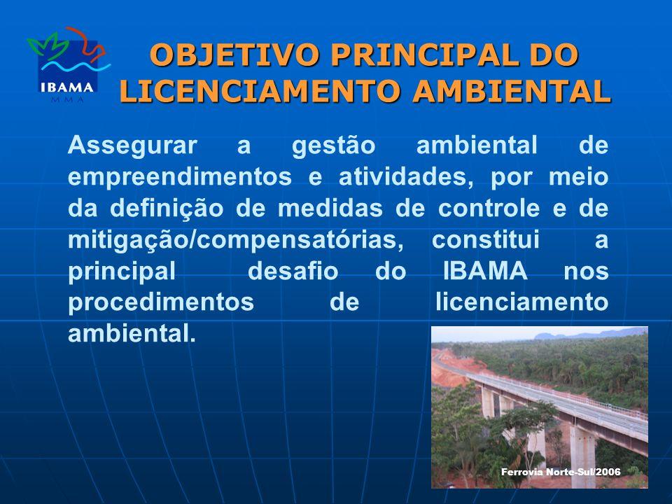 OBJETIVO PRINCIPAL DO LICENCIAMENTO AMBIENTAL