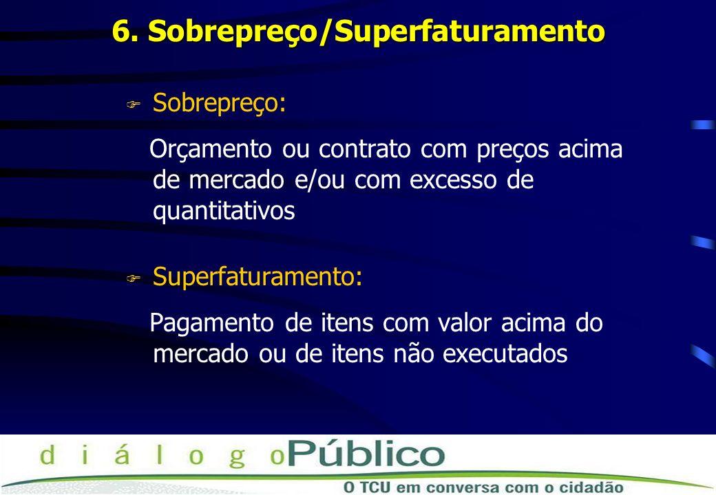 6. Sobrepreço/Superfaturamento