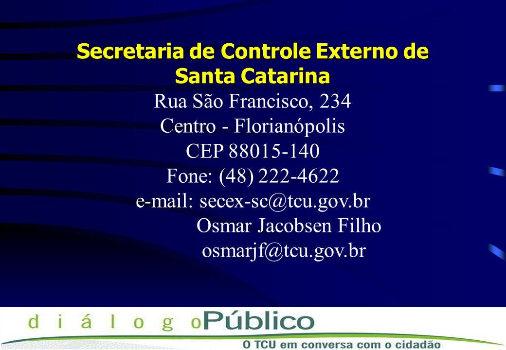 Secretaria de Controle Externo de Santa Catarina