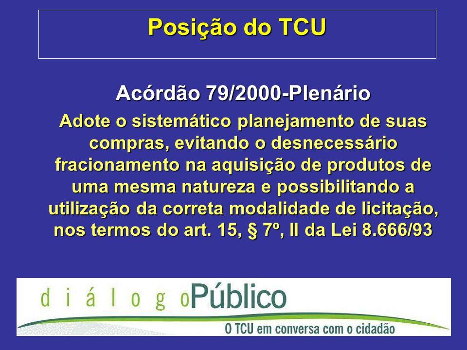 Posição do TCU Acórdão 79/2000-Plenário