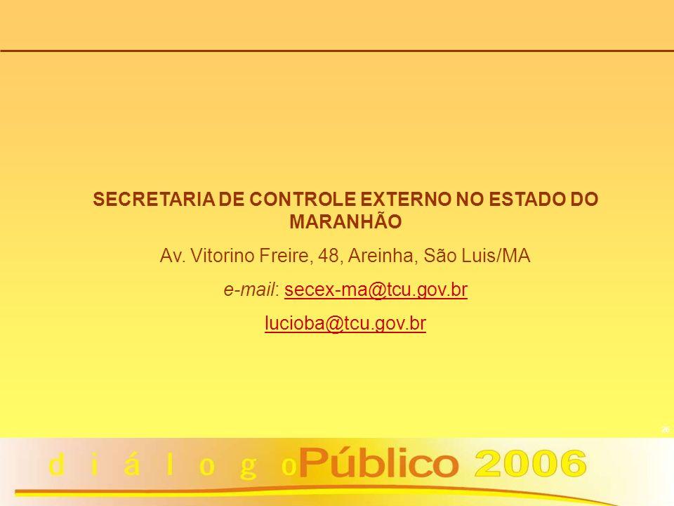 SECRETARIA DE CONTROLE EXTERNO NO ESTADO DO MARANHÃO