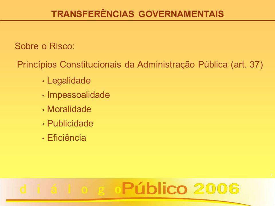 TRANSFERÊNCIAS GOVERNAMENTAIS