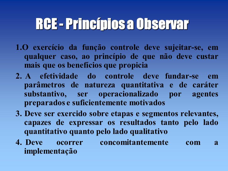 RCE - Princípios a Observar