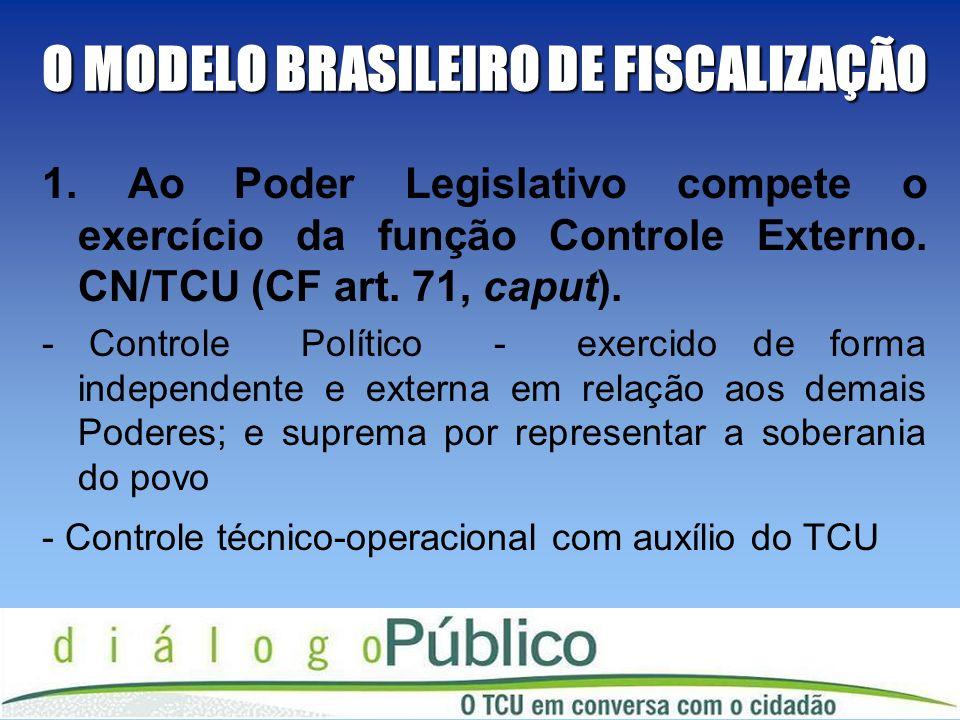 O MODELO BRASILEIRO DE FISCALIZAÇÃO