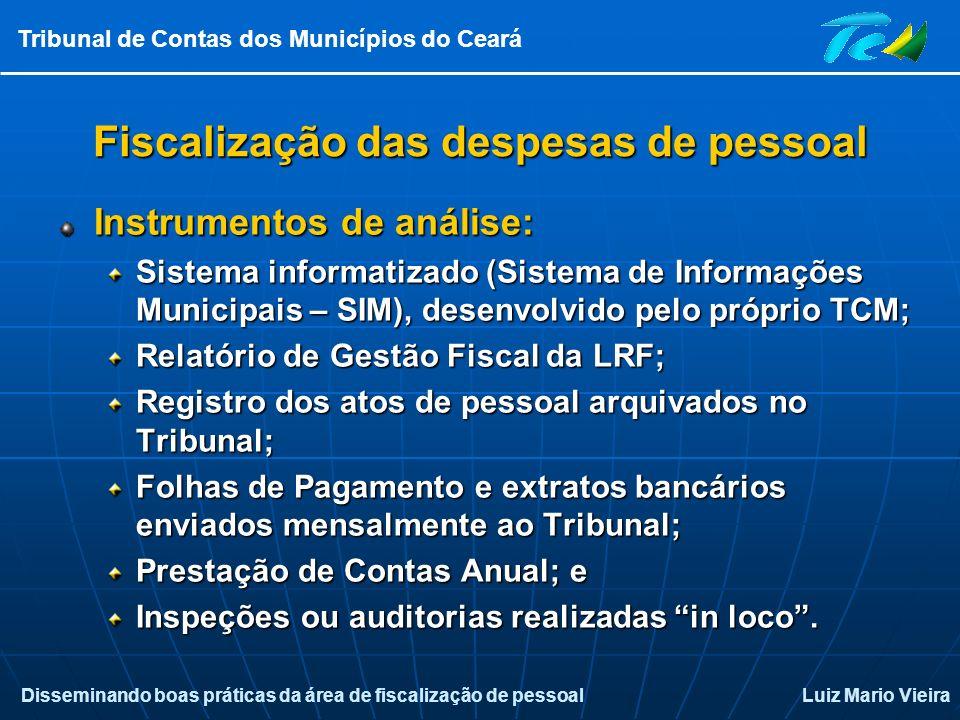 Fiscalização das despesas de pessoal