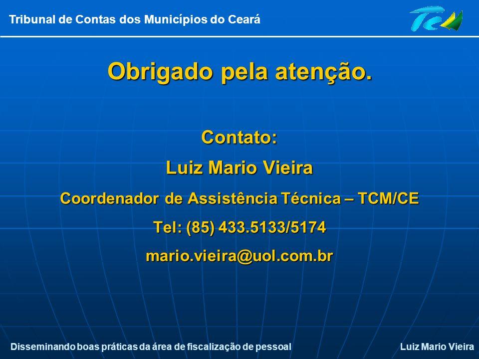 Coordenador de Assistência Técnica – TCM/CE