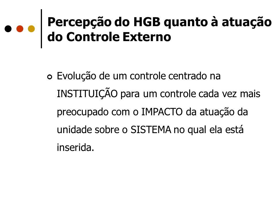 Percepção do HGB quanto à atuação do Controle Externo
