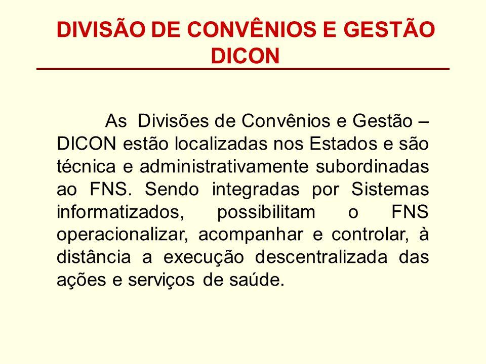 DIVISÃO DE CONVÊNIOS E GESTÃO DICON