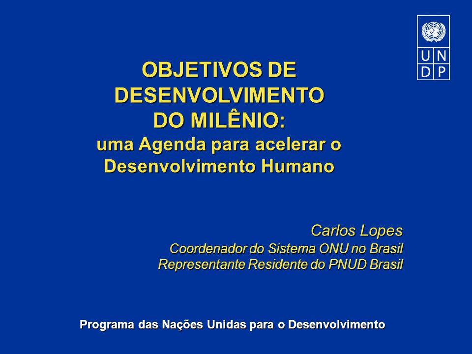 OBJETIVOS DE DESENVOLVIMENTO DO MILÊNIO: