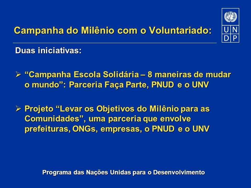 Campanha do Milênio com o Voluntariado:
