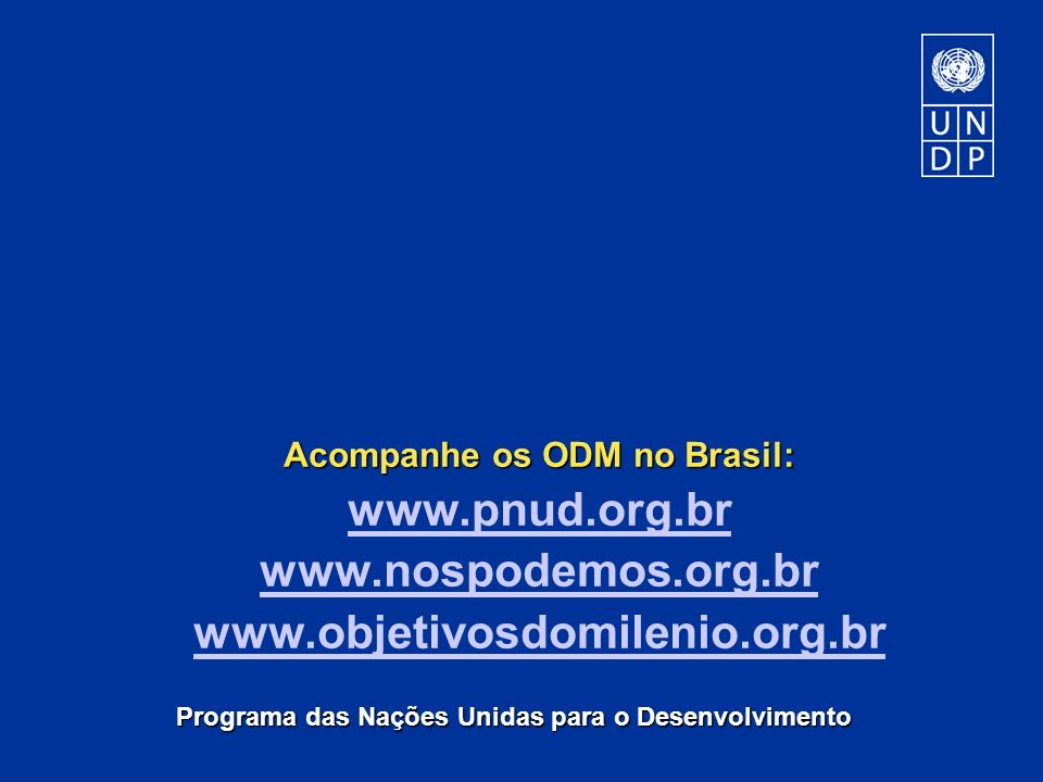 Acompanhe os ODM no Brasil: