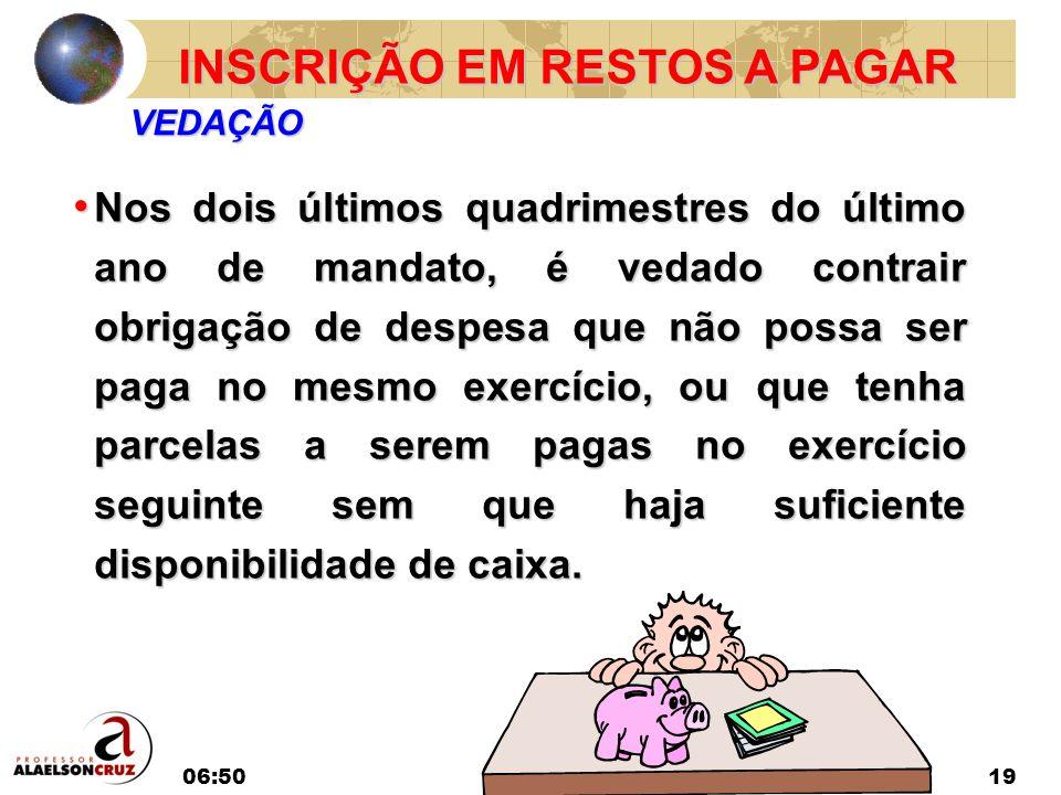 INSCRIÇÃO EM RESTOS A PAGAR